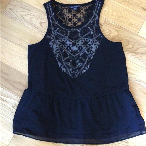 $5 bundle item☀️ AMERICAN EAGLE black lace top